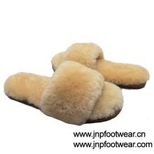 genuine sheepskin women indoor slipper