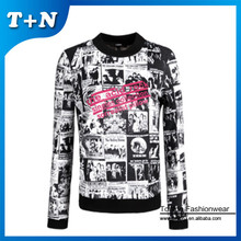 high quality custom design sublimation sweatshirt without hood