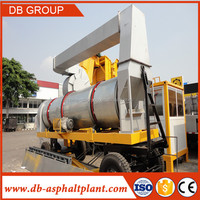 Road Construction Mobile Continuous Type Hot Mix Plant Mobile Mini Asphalt Drum Mix Plant 20-80t/h