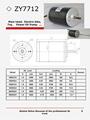 200w24v motor de corriente continua con 3350 1.5a rpm