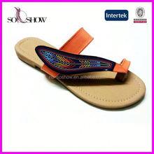 Wholesale flat sandals ladies 2013 new design girls fashion sandal