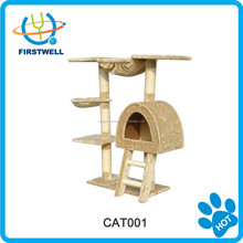 New design pet product of cat tree with cat house/wooden cat funiture