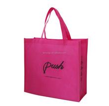 Non woven disposable carry silk screen printing shopping bag