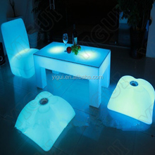 Illuminating Bar Lighting Tables LED Light Up Outdoor Furniture