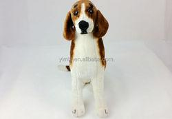 High quality cute and lifelike stuffed plushtoys lifelike Beagle dog animated stuffed dogs