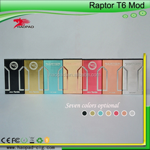 2015 Newest Fashion Design Highly Recommended black Raptor T6 box mod/black Raptor T6 /black Raptor T6 mod clone