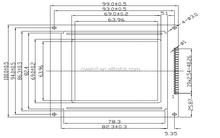 STN LCD 128X128 dot matrix 128x128 graphic lcd display C128128-1