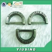 New design custom logo brass metal D ring for bag