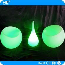 Portable remote control multi color RGB LED illuminated lighted bar table