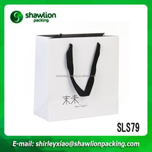 SLS79 Quality new products deluxe white brand gift paper bag
