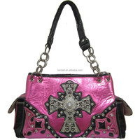 Cowgirl Western Leather Studded Beaded Lady Rhinestone Shoulder Bag
