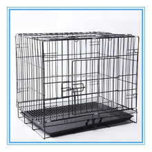 black pet display cage with metal bottom tray/pet cage bottom tray