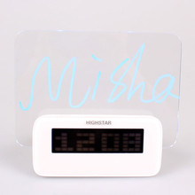 LED Promotional Gifts Table Message Board Alarm Clock