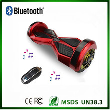 2 wheel self balancing electric scooter 8 inch led light bluetooth speakers with remote