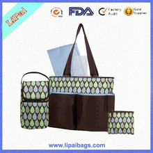 New Design Perfect 5-in-1 Diaper Bag for Mom Laminated Polyester Baby Diaper Totes