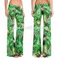 m141436698 venta al por mayor de moda telaimpresa palazzo pantalones