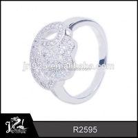 Wholesale Snake Shaped piercing gun 925 sterling silver cat ring animal ring