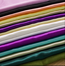 2015 Heavy dull satin fabric for wedding dress, Swatch for 260g/m bridal satin, Hongway satin ready goods color