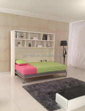 side way wall bed white color single bed folding bed