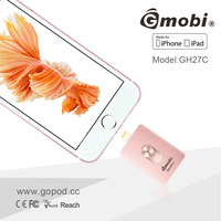 64GB real capacity Gmobi MFi USB flash drive OTG U Disk Mobile Storage for iPhone iPad iOS