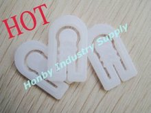 Hot Selling 33mm*20mm White Arch Shape Plastic Shirt Clip