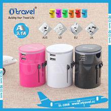 portable USB Charger AU/UK/EU/US travel electrical plug adapter universal plug