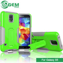 For samsung galaxy S5 PC TPU hybrid heavy duty defender kickstand cover,cheap mobile phone case