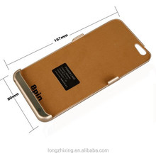Newest external backup battery charger case 5800mah for i6 smart phone power case with fast delivery ,factory price