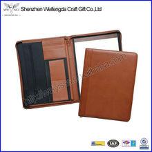 2016 New Fashion Brown Soft PU Leather A4 Portfolio