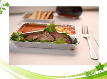 Microwave aluminum foil trays, disposable aluminum tray, disposable lunch tray for Fast food packing takeaway