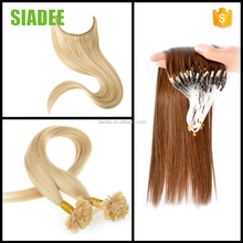 Facotry Direct Sale SIADEE U tip Fish Line Pre-bonded hair extension