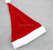 2016 excellent quality Fashion Santa Claus Hat Plush Christmas Decoration hot sale