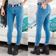 women light acid wash denim custom made skinny jeans made in china