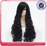 2015 New design most popular japanese kanekalon fiber synthetic hair full lace wig