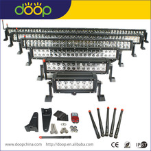 double row dual 36w led color light bar with white and amber switch function