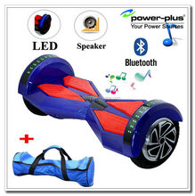 New Blue Electric Hover Board With Bluetooth, LED Lights, and REMOTE! (8 Inch Wheels)