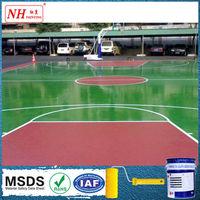 Anti-slip outdoor basketball court floor paint polyurethane component paint