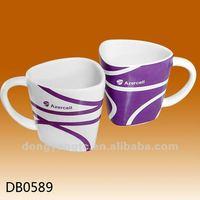 Decal design glossy glazed cup ceramic porcelain