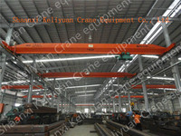 Small construction overhead crane with electric wire rope hoist