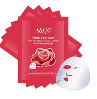 5pcs in 1 box rose collagen crystal facial mask
