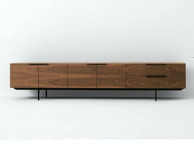 nussbaum farbe tv m bel holz tv schrank mit edelstahl. Black Bedroom Furniture Sets. Home Design Ideas