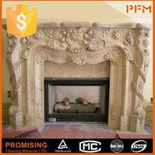 PFM Chinese marble and travertine fireplace alkohol