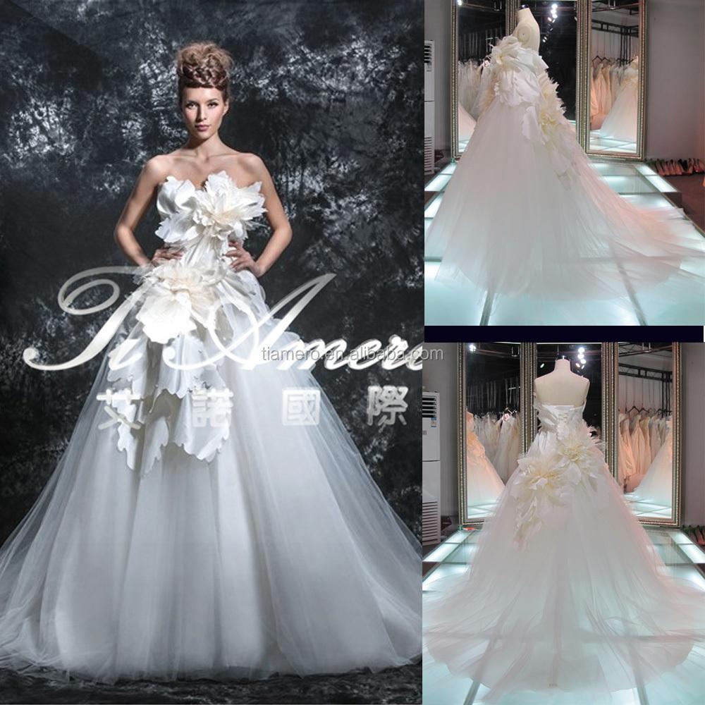 Thx7192j Cheap Unique Flower Import Wedding Dress For Sale Onlin