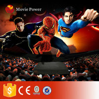 Large cinema with auto seat theater 5d moving 5d chair