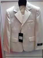 Baby boys 3 piece suit men white coat blazer jacket