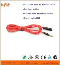 3.5mm red headphone splitter male to female splitter