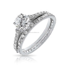 bridal solitaire engagement wedding value 925 silver ring set