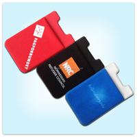 Promotion Christmas gift , Customized 3m sticker smart wallet mobile phone card holder, cell phone card case sticker