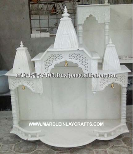 Marble pooja mandir for Home mandir designs marble