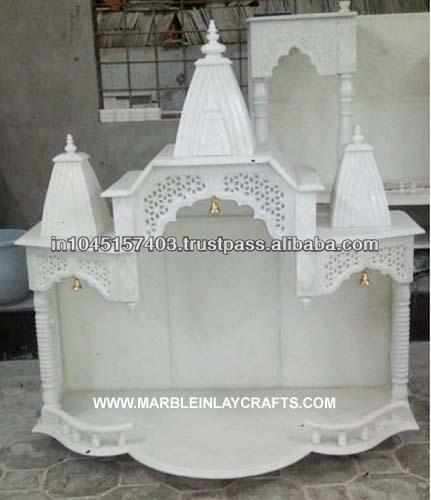 Marble pooja mandir for Home mandir designs marble